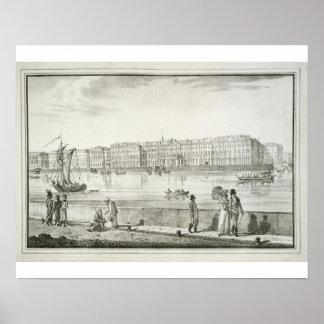 帝国冬宮殿、セント・ピーターズバーグ(litho) ポスター