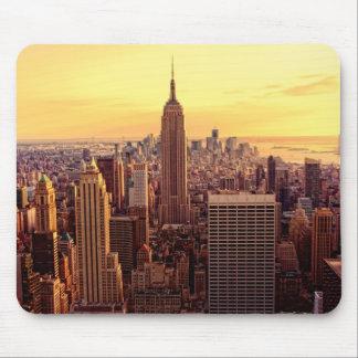帝国国家が付いているニューヨークのスカイライン都市 マウスパッド
