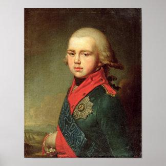 帝政ロシアの皇子のコンスタンチーンPavlovichポートレート ポスター