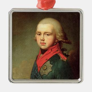 帝政ロシアの皇子のコンスタンチーンPavlovichポートレート メタルオーナメント