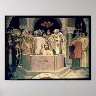 帝政ロシアの皇子のVladimir 1885-96年《キリスト教》洗礼式や命名式 ポスター