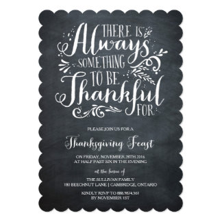 常に感謝している|素朴な感謝祭の招待状 カード