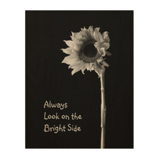 """「常に明るい面のの一見""""花のポートレート ウッドウォールアート"""