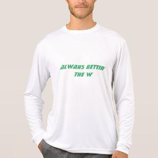 """""""常にgetting W""""のワイシャツ Tシャツ"""