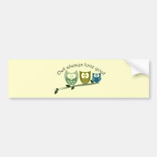 常のフクロウ愛のかわいいフクロウのデザイン バンパーステッカー