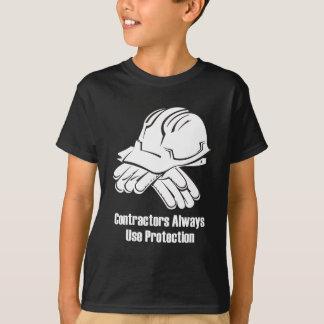 常の建築業者の使用保護 Tシャツ