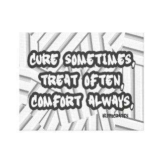 常の頻繁の時々治療の御馳走心地よいの引用文 キャンバスプリント