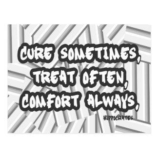 常の頻繁の時々治療の御馳走心地よいの引用文 ポストカード