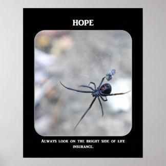 常一見明る側面の生命保険 ポスター