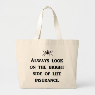 常一見明る側面の生命保険 ラージトートバッグ