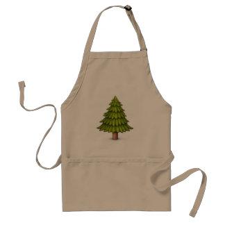 常緑の木- Emoji スタンダードエプロン