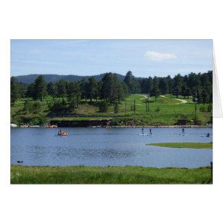 常緑湖のかい寄宿生カード グリーティングカード