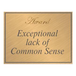 常識の例外的な欠乏のための賞 ポストカード