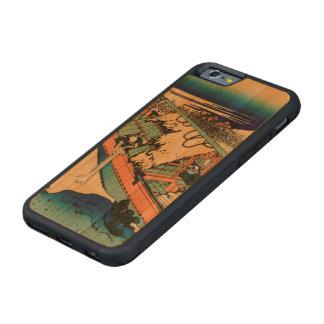 常陸国のUshibori CarvedチェリーiPhone 6バンパーケース