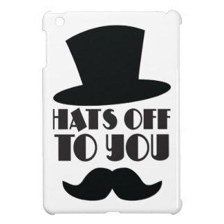 帽子あなたに! シルクハットおよび口ひげを使って iPad MINI CASE