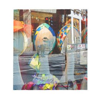 帽子およびスカーフのアールデコ ノートパッド