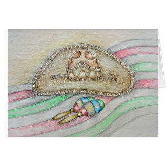 帽子およびmaracas、Cinco Deメーヨー カード