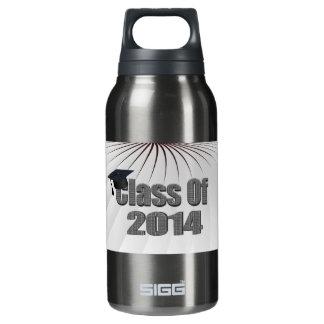 帽子と灰色そして黒い2014のクラス 断熱ウォーターボトル