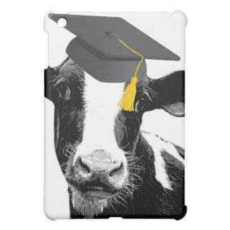 帽子のお祝いの卒業のおもしろいな牛 iPad MINIケース