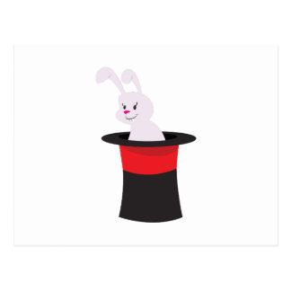 帽子のウサギ ポストカード