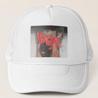帽子のジャーマン・シェパードの謝肉祭のマスクの赤 キャップ