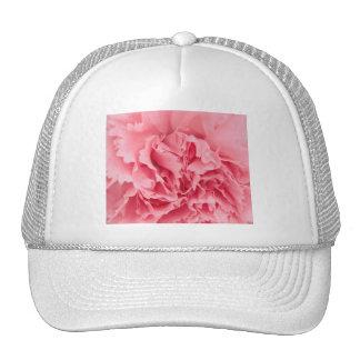 帽子のピンクのカーネーションの終わり トラッカーハット
