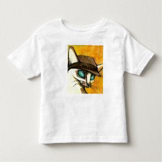 帽子のワイシャツの猫 トドラーTシャツ