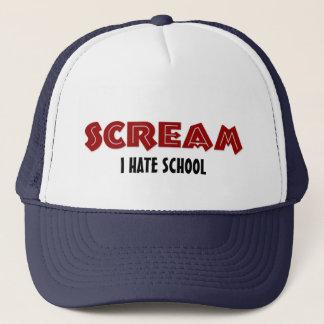 帽子の叫び私は学校を憎みます キャップ