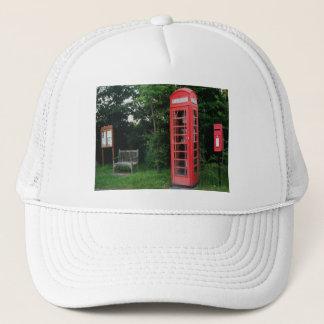 帽子の田舎赤い電話およびポスト キャップ