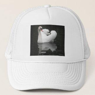 帽子の白鳥の水泳 キャップ