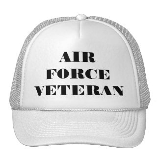帽子の空軍退役軍人 メッシュ帽子