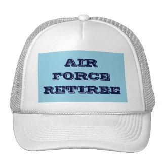 帽子の空軍退職者 メッシュキャップ