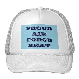 帽子の誇り高い空軍がき メッシュ帽子