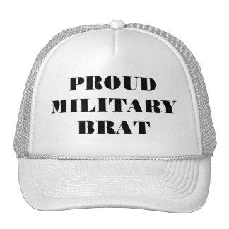 帽子の誇り高い軍のがき トラッカー帽子