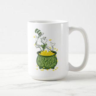 帽子のSeuss |先生猫-幸せなSt.猫! 2 コーヒーマグカップ