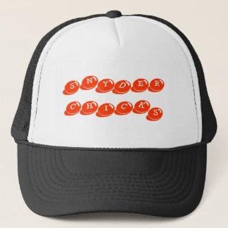 帽子をトラックで運んでいるSNYDERのひよこ キャップ