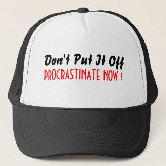 帽子を今先延ばしにして下さい キャップ
