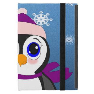 帽子を持つペンギン iPad MINI ケース