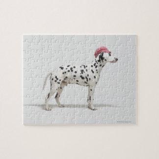 帽子を身に着けている犬 ジグソーパズル