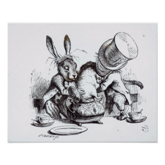 帽子屋および3月のノウサギ ポスター
