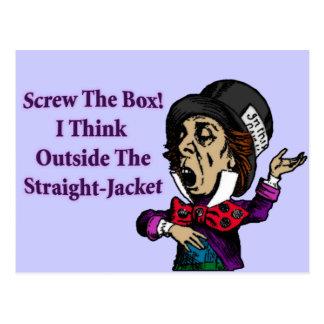帽子屋のおもしろいでやる気を起こさせるな引用文 ポストカード