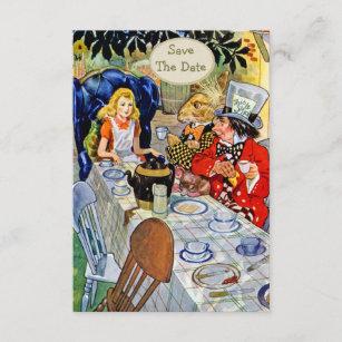 帽子屋のお茶会の結婚式の保存日付 セーブザデート