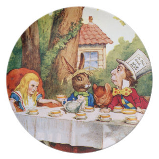 帽子屋のお茶会-不思議の国のアリス パーティー皿