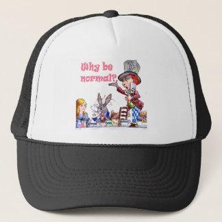 """帽子屋はアリスに、""""なぜです正常尋ねますか。"""" キャップ"""