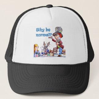 """帽子屋は、""""なぜです正常頼みますか。"""" キャップ"""