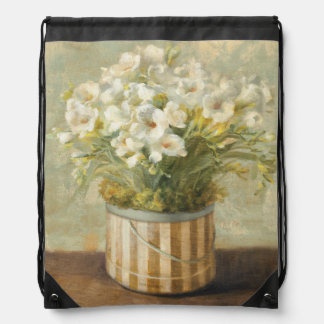 帽子箱の花 ナップサック