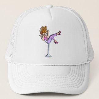 帽子、帽子-マルティーニガラスの女の子、Lilの赤 キャップ