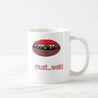 帽子、絶対必要の…溶接 コーヒーマグカップ