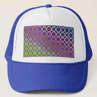 帽子-虹の曼荼羅のフラクタルパターン キャップ