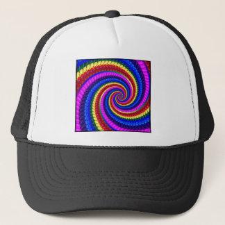 帽子-虹の渦巻のフラクタルパターン キャップ
